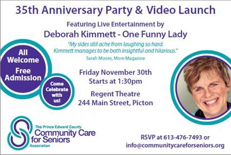 35th Anniversary Party for Prince Edward Community Care for Seniors - November 30th