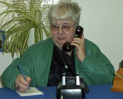 Genny Vincent, telephone reassurance volunteer