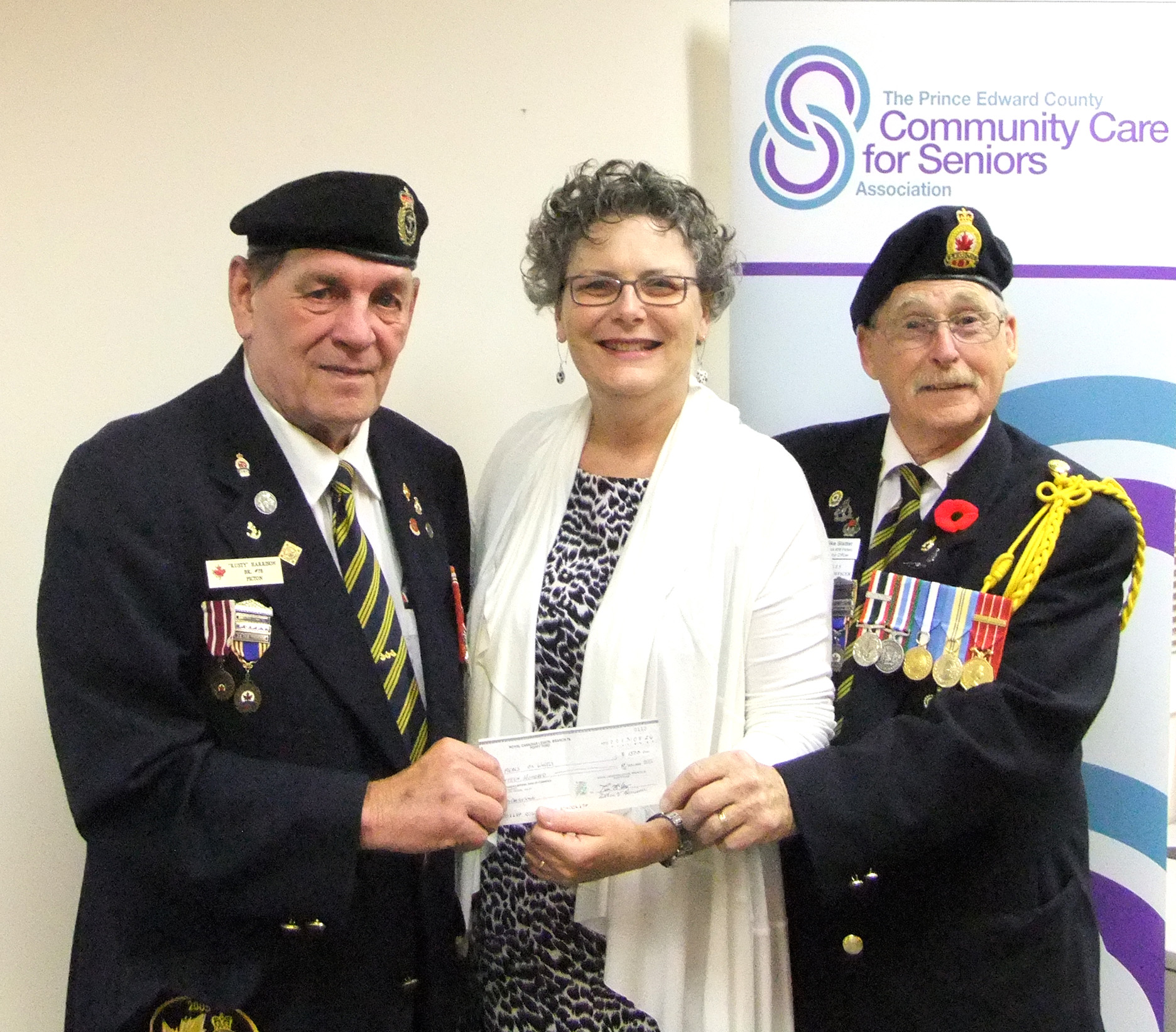 L-R Arthur Harrison from the Poppy Fund