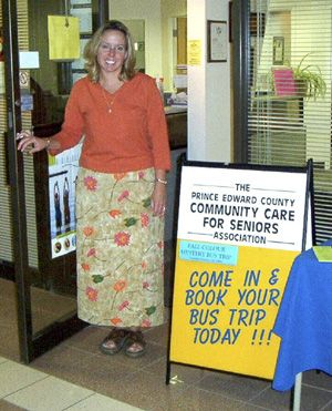 Lorna Lumley, staff member at Community Care, is ready to greet members of the public at the upcoming open house.